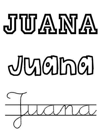 Juana. Nomes para nenas