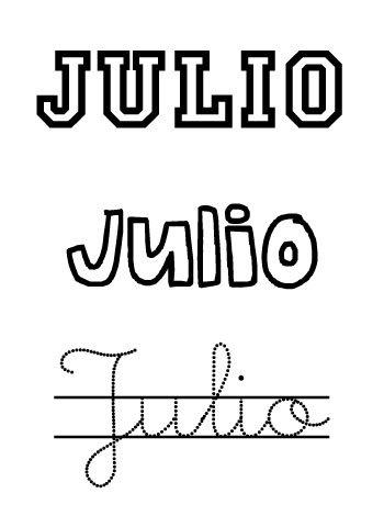 Julio. Nombres para niños