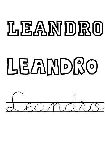 Leandro. Nombres para niños