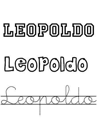 Leopoldo. Nombres para niños