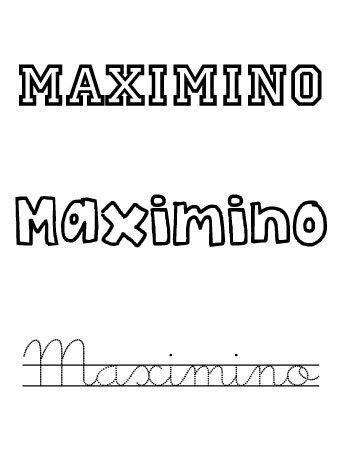 Maximino. Nombres para niños