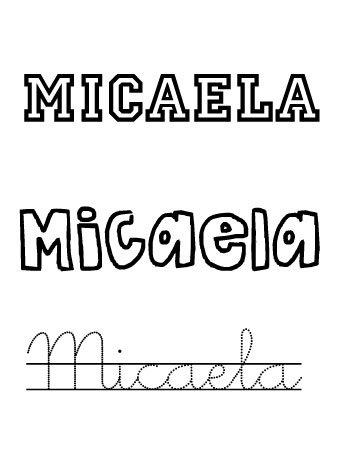Micaela. Nombres para niñas