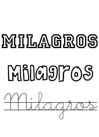Milagros. Nombres para niñas