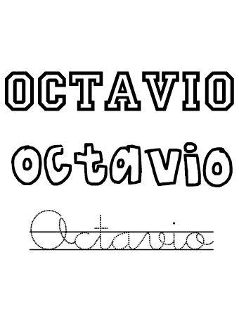 Octavio. Nombres para niños