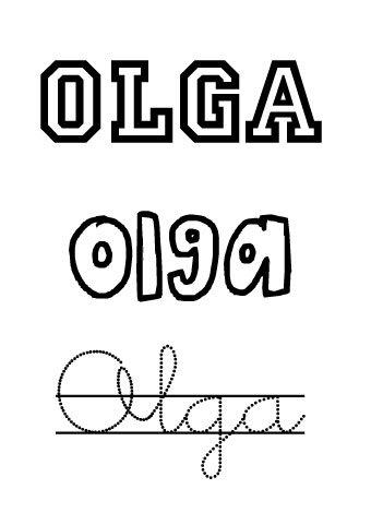 Olga. Nombres para niñas