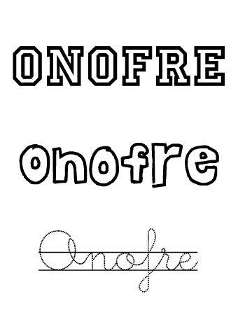 Onofre. Nombres para niños