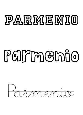 Parmenio. Nombres para niños