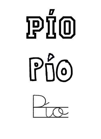 Pío. Nombre para niños