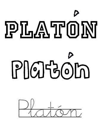 Platón. Nombre para niños