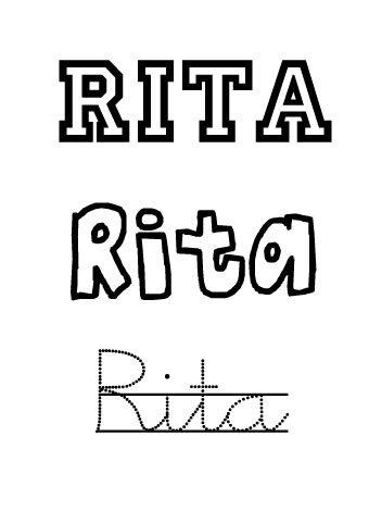 Rita. Nombres para niñas