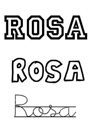 Nombres para niñas. Rosa