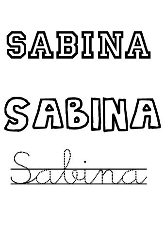 Sabina. Nombres para niñas