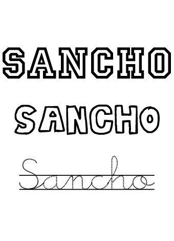 Sancho. Nombres para niños