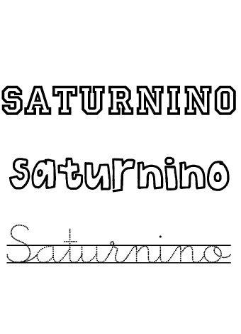 Saturnino. Nombres para niños