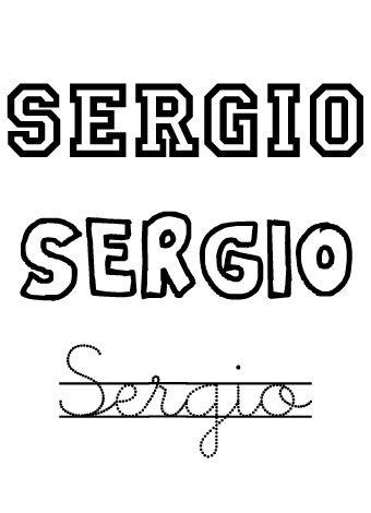 Sergio. Nombres para niños