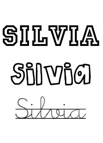Silvia. Nombres para niñas