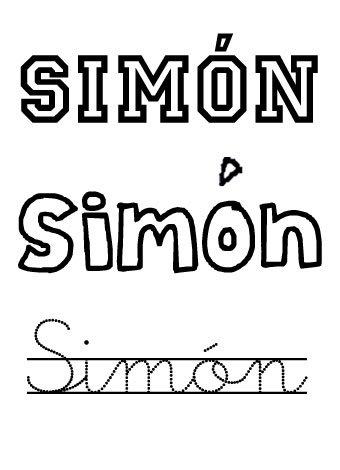 Simon. Nombres para niños