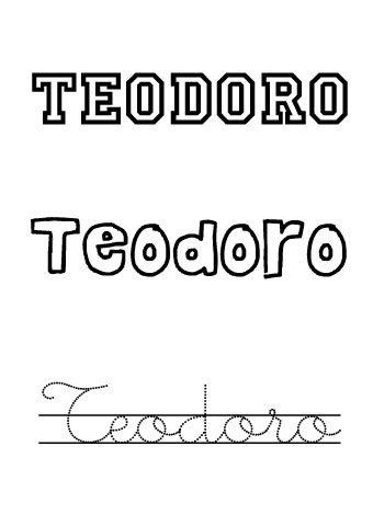 Teodoro. Nombres para niños