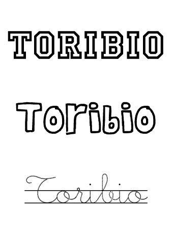 Toribio. Nombres para niños