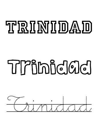 Trinidad. Nombres para niñas