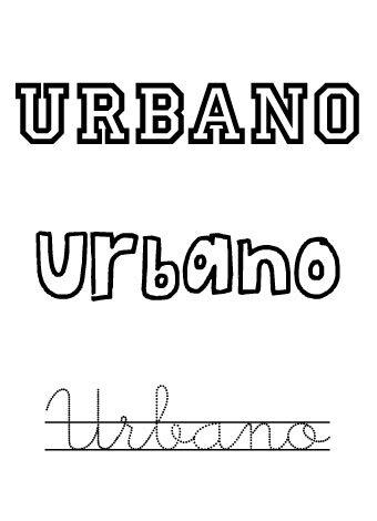 Urbano. Nombres para niños