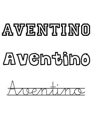 Dibujo de nombre Aventino