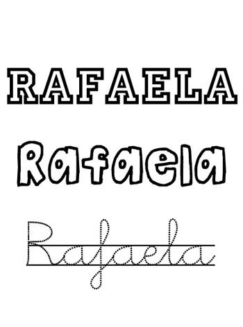Nombre Rafaela para niñas