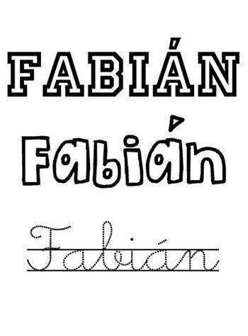 Nombre Fabián para niño