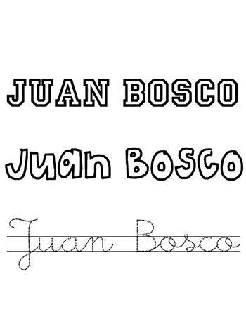 Nombre Juan para pintar