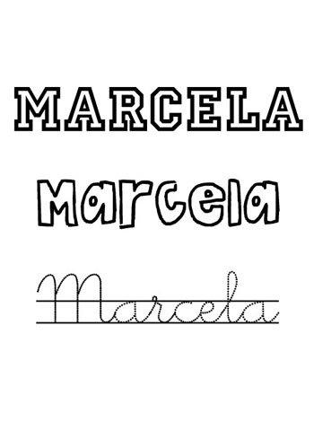 Nombre Marcela para niñas