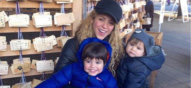 Paulina Rubio y Nicolás con Andrea