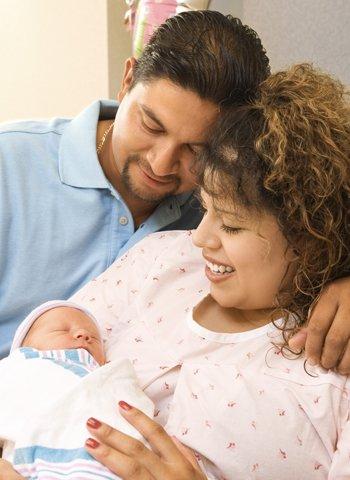 Padres de un recién nacido