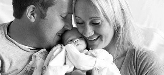 Foto de Kristen Prosser. Encuentro de padres y bebé adoptada