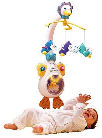 Móvil para la cuna del bebé: mami pata proyector