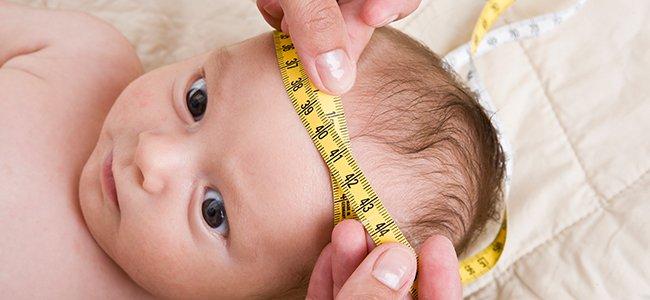 Perímetro cefálico del bebé