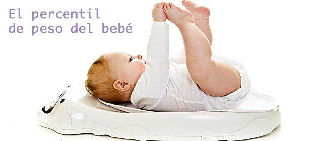 Calculadora de percentil de peso del bebé
