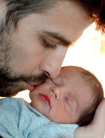 La primera foto de Milan, bebé de Shakira y Piqué