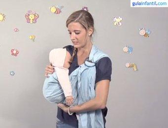 Porteo para bebé con bandolera