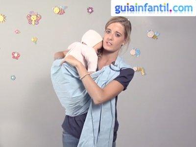 Porte para bebé con bandolera. Paso 2.