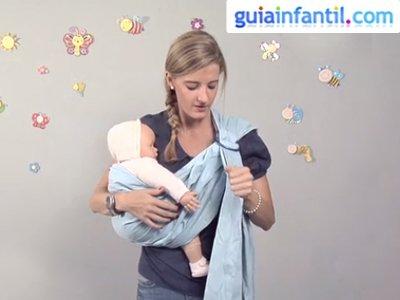 Porte para bebé con bandolera. Paso 3.