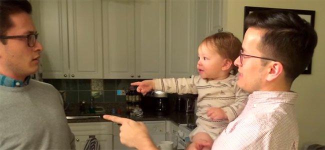 Cómo pueden los hijos distinguir a su papá si tiene un gemelo