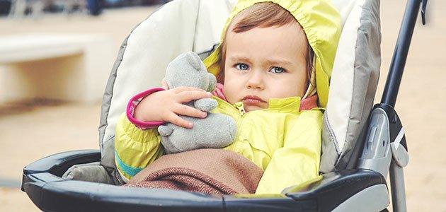 Bebé en silla de paseo