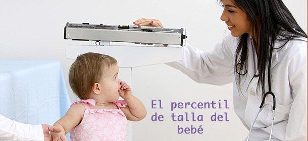 Percentil de talla de los bebés