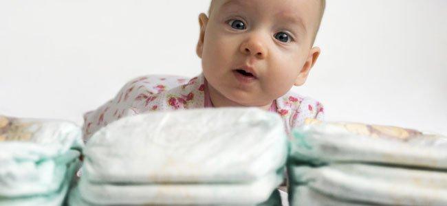 Tipos de pañales para bebés