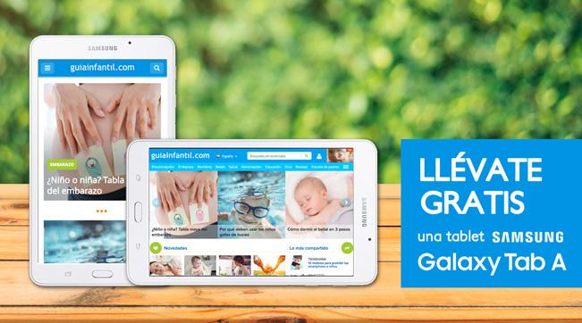 Sorteo Tablet Samsung Galaxy Tab A en guiainfantil.com