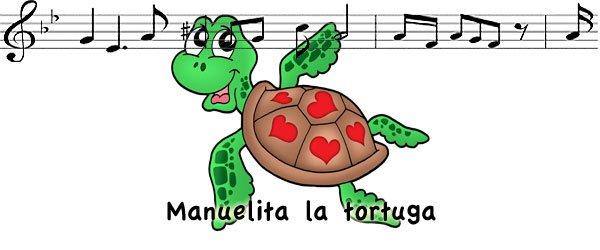 Canción Manuelita la tortuga