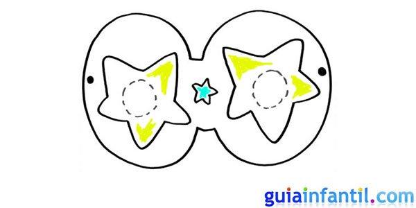 Antifaz de estrellas para dibujar
