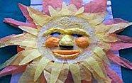 Manualidad de máscara de sol