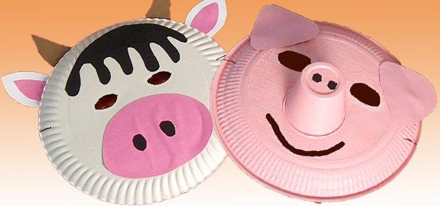Máscaras de carnaval hechas con platos