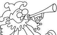 Payaso con trompeta